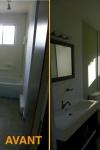 Salle de bain - Avant - Après